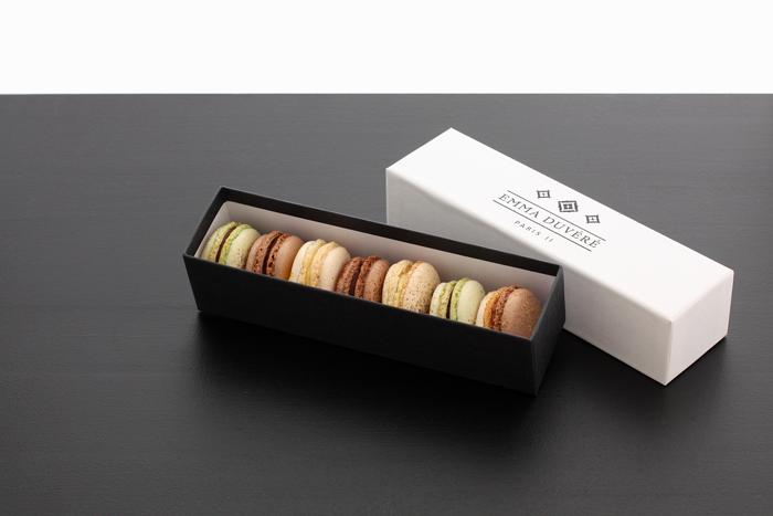 Coffrets de macarons Chocolat Addict Emma Duvéré macarons bio