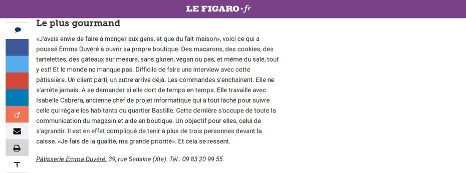 capture article Figaroscope