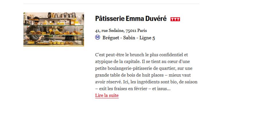 Emma Duvéré Télérama