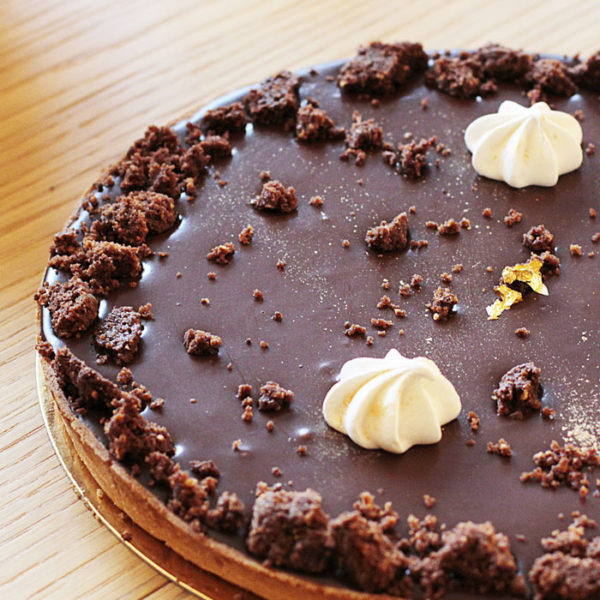Tarte chocolat praliné streusel - Emma Duvéré