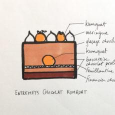 Entremets chocolat kumquat